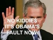 G.W. Bush and obama
