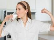 Milk drinking lady